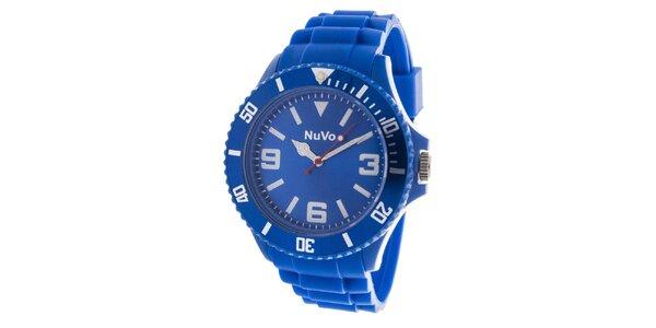 Modré analogové hodinky NuVo