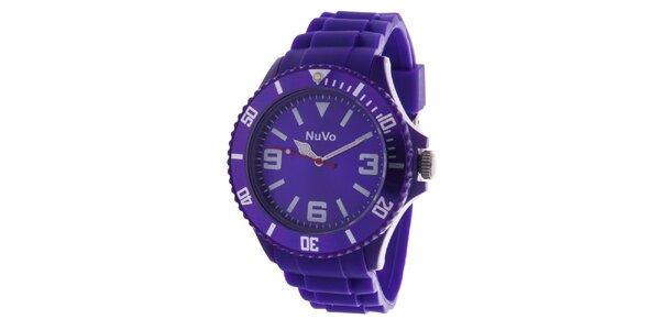 Fialové analogové hodinky NuVo