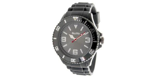 Šedé analogové hodinky NuVo