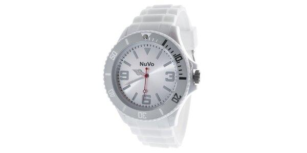 Bílé analogové hodinky NuVo