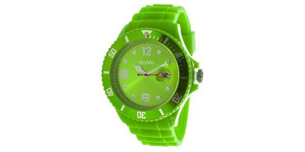 Zelené hodinky s datumovkou NuVo