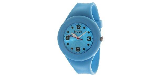 Modré hodinky s hladkým řemínkem NuVo