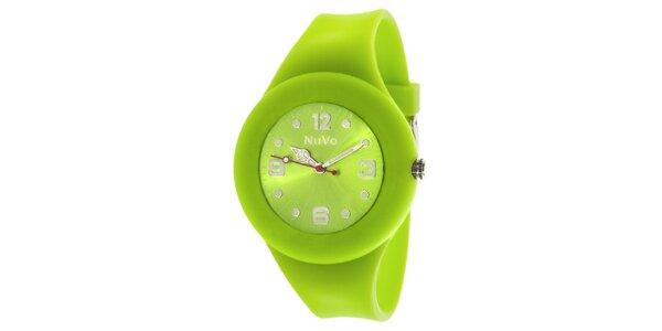 Světle zelené hodinky s hladkým řemínkem NuVo