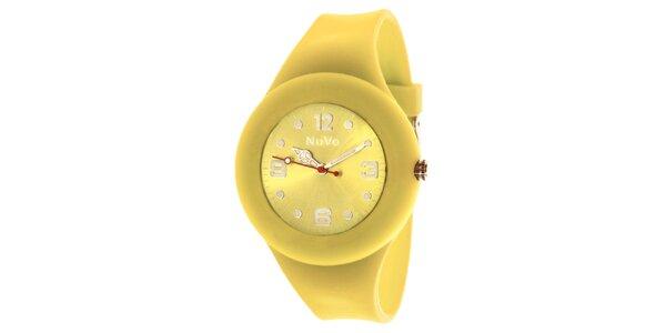 Žluté hodinky s hladkým řemínkem NuVo