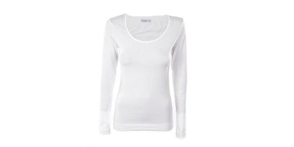 Dámské bílé tričko s dlouhým rukávem Kaffe