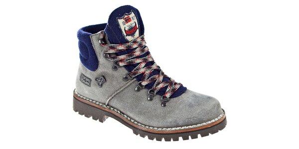 Pánské šedo-modré kotníčkové boty Napapijri