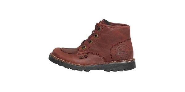 Dámské bordó kotníčkové boty Buggy