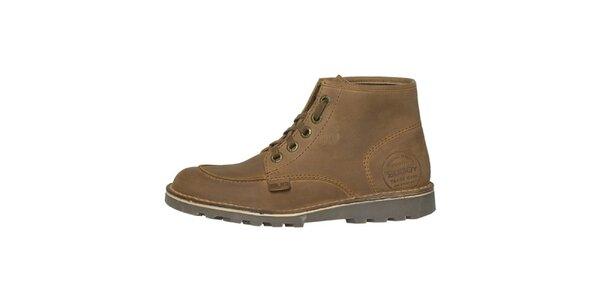 Dámské hnědobéžové kotníčkové boty Buggy