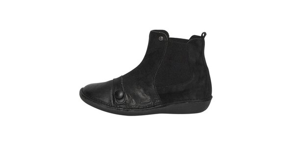 Dámské černé kotníčkové boty Buggy