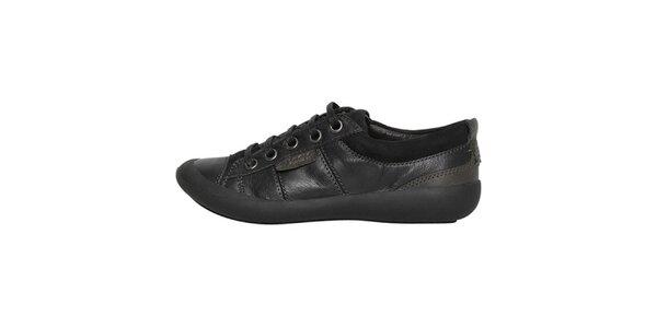 Dámské nízké černé šněrovací boty Buggy