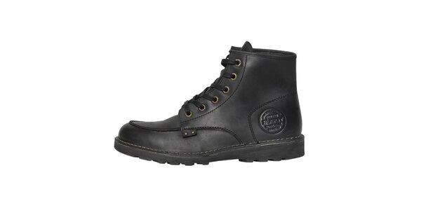 Pánské černé kožené boty Buggy