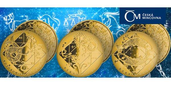 Medaile zvěrokruhu z ryzího zlata a stříbra