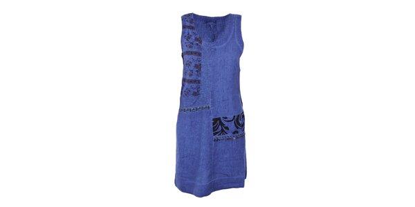 Dámské sytě modré šaty s ornamenty Angels Never Die