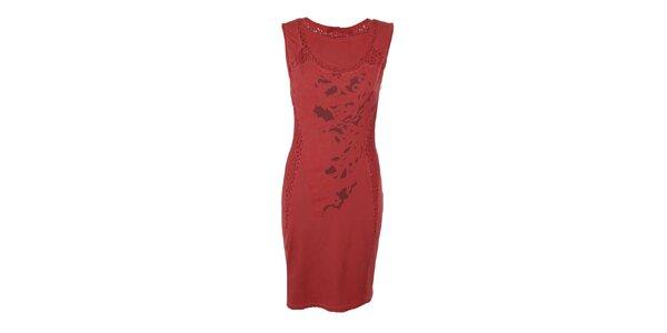 Dámské rudé upnuté šaty Angels Never Die