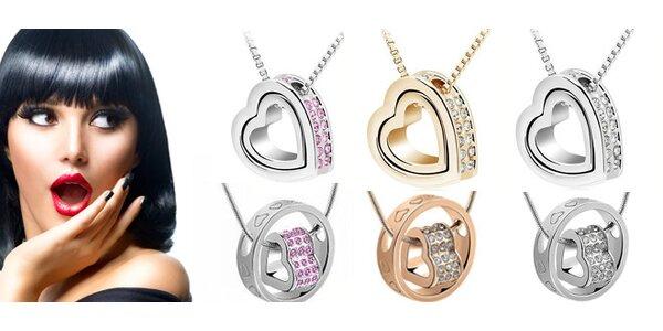 Překrásný dámský náhrdelník ve tvaru srdce s dopravou zdarma