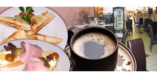 59 Kč za DVĚ kvalitní italské kávy a DVA toasty v Café Cihelna v Králově Poli.