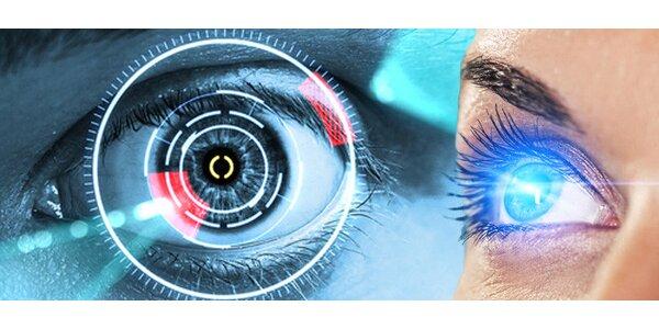 Laserová operace jednoho oka
