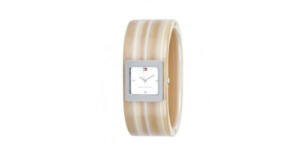 Dámské béžové náramkové hodinky Tommy Hilfiger