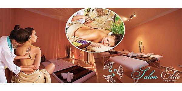 90minutový odpočinek v Salonu Elite - výběr ze 4 druhů exotických masáží…