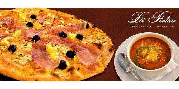 Dvě 3chodová menu v italské restauraci Di Pietro
