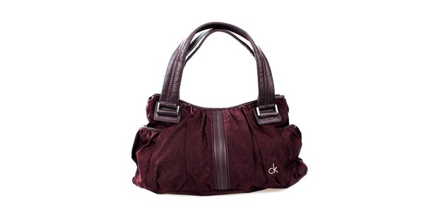 Dámská bordó kabelka Calvin Klein