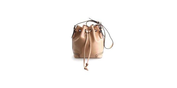 Dámská krémově hnědá kožená kabelka Belle&Bloom