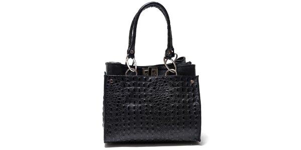 Dámská černá kabelka s imitací kůže Isabella Rhea