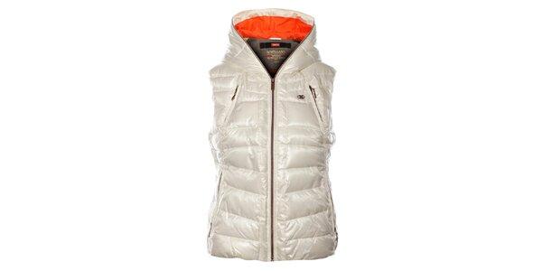Dámská bílá prošívaná vesta Northland Professional s metalickým odleskem