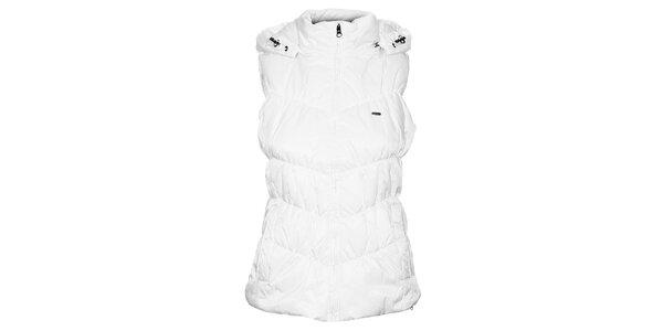 Dámská bílá prošívaná vesta Timeout s kapucí