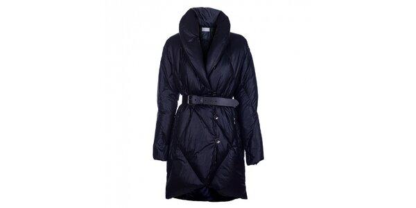 Dámský temně modrý péřový kabát Pietro Filipi