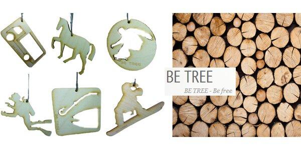 3 kusy dřevěné vůně BE TREE včetně dopravy