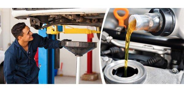 Výměna oleje, včetně výměny olejového a vzduchového filtru