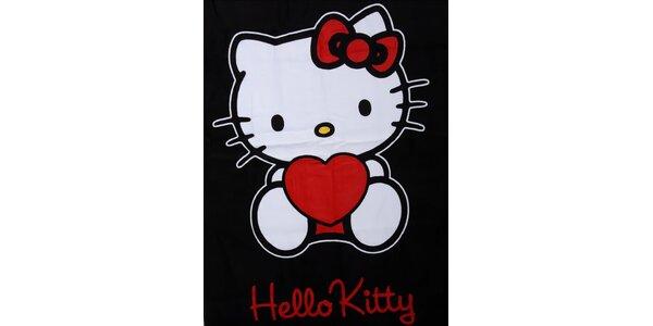 Dětská černá osuška Hello Kitty