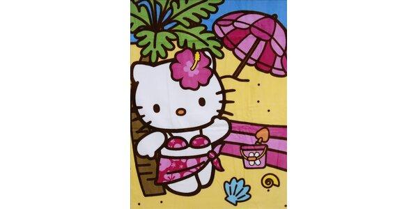 Dětská plážová osuška Hello Kitty
