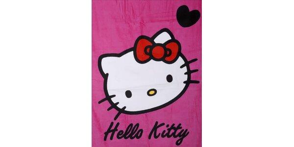 Dětská růžová osuška Hello Kitty