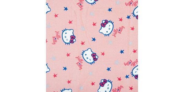 Dětská světle růžová osuška Hello Kitty