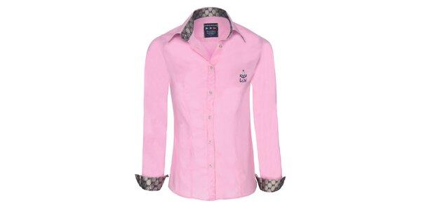Dámská růžová košile se stříbrnými detaily Giorgio di Mare