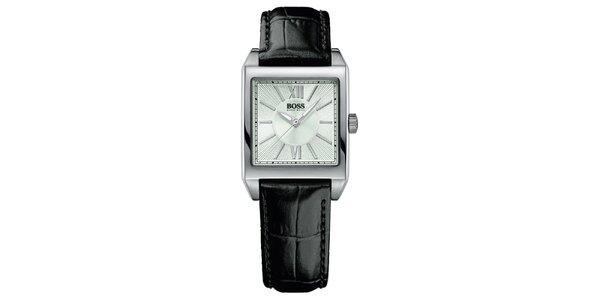 Dámské hranaté stříbrné hodinky Hugo Boss Orange