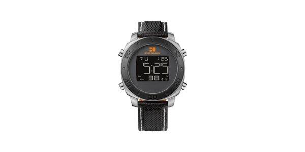 Pánské černé digitální hodinky Hugo Boss Orange