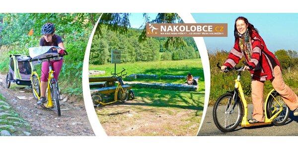 Jarní jízda na koloběžce Moravským krasem