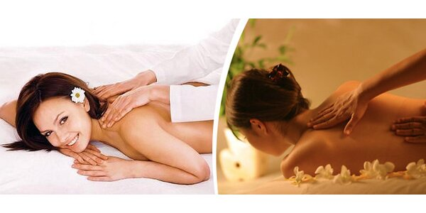 Relaxační masáž zad a šíje v délce 45 minut