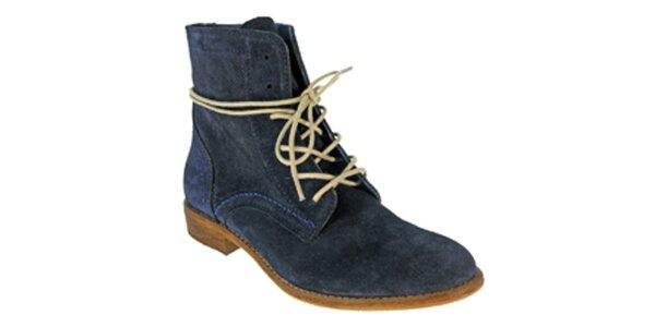 Dámské tmavě modré kotníkové šněrovací boty Red Hot