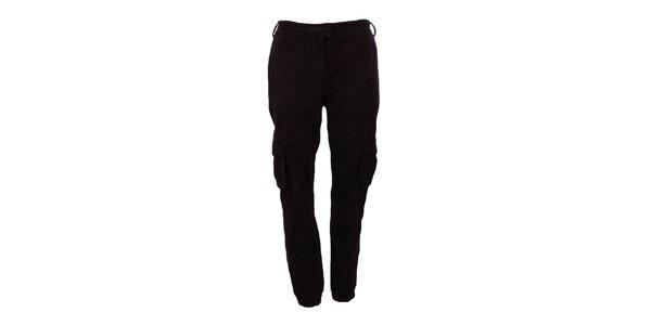Dámské tmavě hnědé semišové kalhoty Company&Co