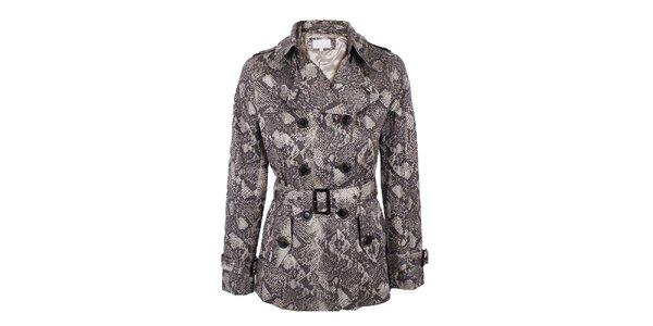 Dámský dvouřadý kabátek s motivem hadí kůže Company&Co