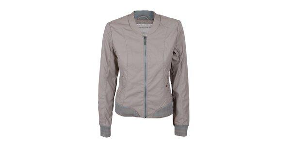 Dámská šedá bunda s elastickým spodním lemem Company&Co