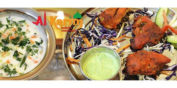 Libovolné indické pokrmy v bistru Al Karim