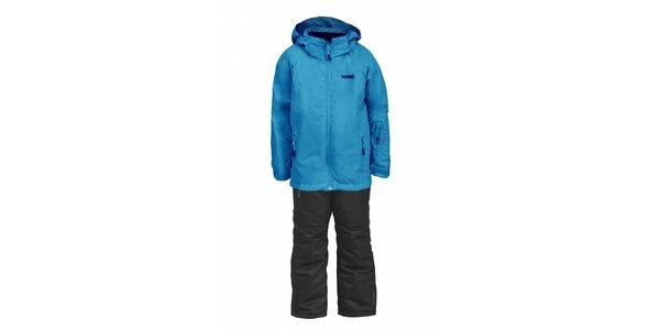 Dětská lyžařská souprava Envy - černé kalhoty a světle modrá bunda