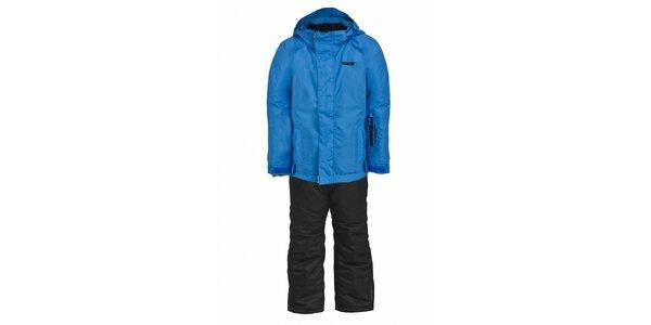 Dětská lyžařská souprava Envy - černé kalhoty a modrá bunda