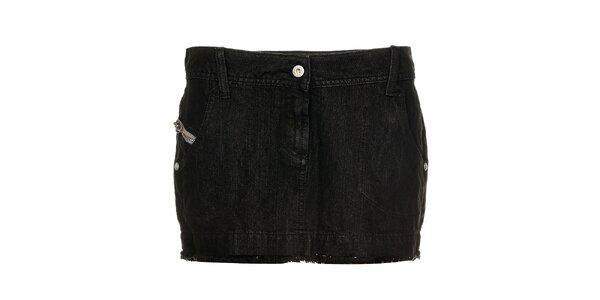 Dámská černá džínová minisukně Freesoul