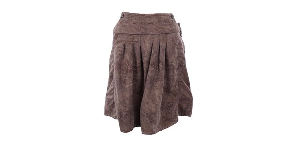 Dámská hnědá sukně se vzorem Freesoul